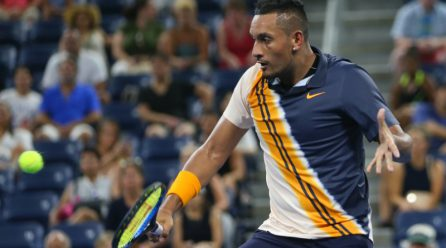 Weary Kyrgios puts heat on officials after first rounded win