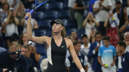 Sharapova edges past spirited Schnyder with Flushing Meadows