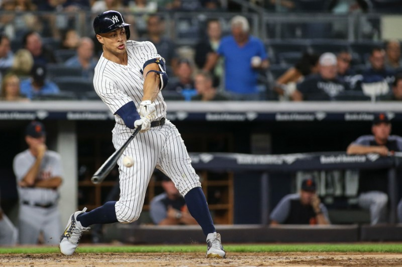 Yankees' Stanton hits 300th career HR
