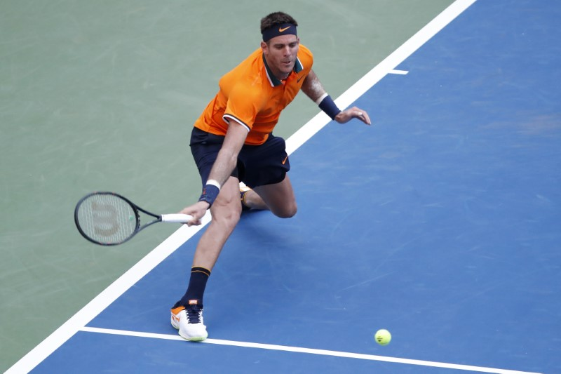 Del Potro overwhelms Kudla in threatening power play