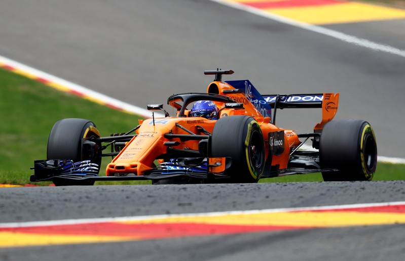 Spa crash left Alonso'azines McLaren a write-off